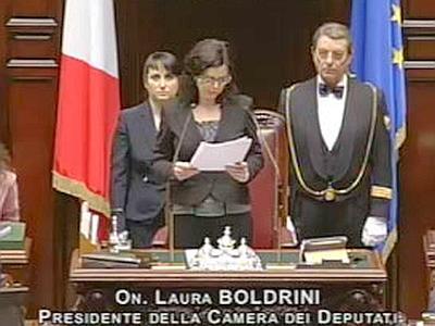 Discorso Camera Boldrini : Laura boldrini presidente della camera. altro pianeta rispetto ad